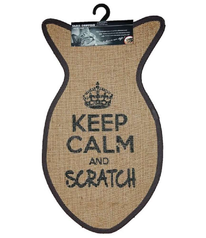 "Tapis griffoir ""Keep Calm and Scratch"" WOUAPY"